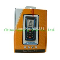 Wholesale Retail Pakcage RZ E100 m ft Laser distance meter with bubble level Rangefinder Range finder Tape Freeshipping