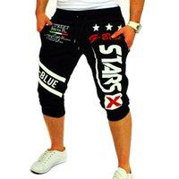 arrival slacks - New Arrival Pkorli Brand Men s Sports Running Shorts Beach Joggers Printed Harem Shorts Hip Hop Slacks Street Style