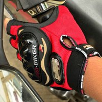 Wholesale Motorcycle Gloves Probiker Half Finger Racing Motocross Motorbike Protective Gear Motor Gloves Summer Men Dirt Luvas Para Red L