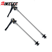 Wholesale 2Pcs Ultralight Bicycle Skewers Quick Release Titanium Skewer Mountain Road Bike Bicycle Cycling MTB Wheel Hub Skewers Color