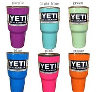 Wholesale Colorful yeti cup oz YETI Large Capacity Stainless Steel Tumbler Mug color oz YETI Tumbler Rambler Cups cooler cup
