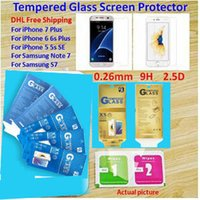 Wholesale Paper Package Iphone plus Iphone s s plus Tempered Glass Screen Protector Anti shatter Antifingerprint for Note Samsung S7 S6 S5 Film