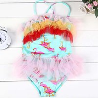 Wholesale Fashion Girls Swimsuit Children Clothes Kid Lace One Piece Clothing Korean Girl Dress Children Swimwear Kids Bathing Suits Ciao C28418