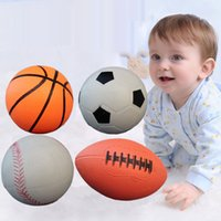 beach rugby ball - Inflatable Rubber Baseball Basketball Football Rugby Child Sports Ball Beach Pool Garden Play Antistress Ball Baby Kendama Toys