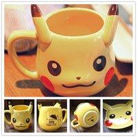 anime mugs - Pikachu Mugs Cups Poke Ceramic Cartoon Movie Anime Figure Water Milk Coffee Drinkware Cups No Dish Plant B0517