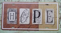 artistic posters - Artistic Metal Tin Sign HOPE Plaque Pub Bar Cafe Tavern Wall Decor Embossed Poster New