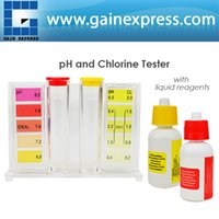 Wholesale FC Water ph Tester Quality Pool CL2 Test Kit chlorine HydroTools Orthotolidine Phenol Red Solutions