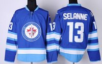 Wholesale Winnipeg jets SELANNE Hockey Jerseys Popular BYFUGLIEN Hockey Jerseys Cheap discount BOGOSIAN ANTROPOV TKACHUK Hockey wear