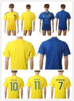 Wholesale Ukraine Jersey Home Yellow Blue SHEVCHENKO Football Shirt European Cup Ukraine Soccer Jersey cheap Thai quality soccer tshirts