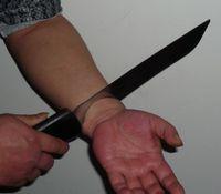 arm magic trick - knife thru arm Magic trick joke magic Halloween horrible