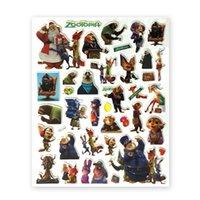 Wholesale Zootopia D Cartoon Stickers new children zootopia Nick Wilde Judy Hopps cartoon animal D PVC Stickers cm