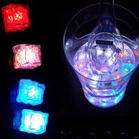 Wholesale Multicolor Submersible LED Lights Ice Cubes Flash Lights Waterproof LED Light Drinking Liquid Sensor Lights for Wedding Party Bar Club