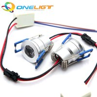 Wholesale 10pcs W Mini LED Downlight Round LED Recessed Ceiling Spot Lights AC110V V DC12V Warm White Pure White Cold White