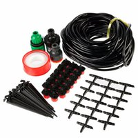 Wholesale 15M DIY Micro Drip Irrigation System Plant Self Watering Outdoor Garden Hose Kits with Connectors Adjustable Drippers