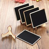 Wholesale Romantic Mini Wooden Message Blackboard Chalkboard with Stand Small Black Notice Board Wedding Home Office Decor Supplies