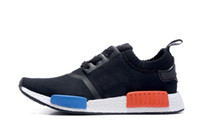 Wholesale NMD Runner PK Black White S79168 Men s Women s New Classic Cheap Fashion Sport Shoes With Boxes