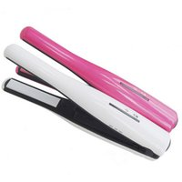 UA White Under $30 NEW Rechargeable Cordless Hair Straighteners Portable USB Charger Wireless Hair Straighteners Iron 2 in 1 Hair Curl Tools Fast shipping