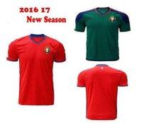 Wholesale 2016 Men Short Sleeve Osasunas Adults Ligas Jersey Shirt Kit Camiseta Maillot Ca La