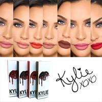 Wholesale Kylie matte Lipstick Kylie Jenner Lip Kit Gloss Lipstick Lipliner Velvet Boxset Matte Lipstick Waterproof Makeup Beauty