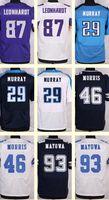 benson football - Men s Leonhardt DeMarco Murray Alfred Morris Benson Mayowa Black White Blue Draft Jerseys Top Quality