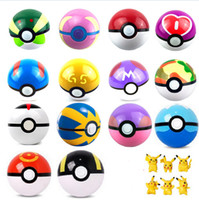 Wholesale 13 style plastic poke ball go pokeball toy Greate Ultra Master balls pocket monster action figures christmas gifts cm Pikachu kids toys