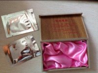 Wholesale Joan of ARC Red artifical hymen virgin again Female sex products Premarital gifts wooden box packaging