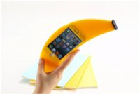 Cheap Hot Fashion cute novelty Stylish Big Banana silicone Shape TPU Phone Case Cover For iphone 5 5s Anti-knock phone accessories
