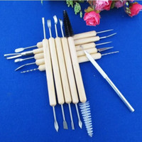 Wholesale 11pcs Multifunction Professional Wood Metal Handle Wax Pottery Clay Sculpture Carving Modeling Wire Texture Tool Fimo DIY Craft b218