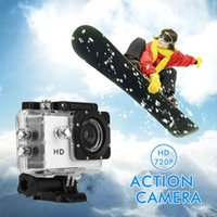 achat en gros de hd caméra sport mouvement-DHL Frais de port! Casque étanche Sports DV Action Caméra HD 720P Enregistrement vidéo Motion Record Appareil photo Photo Shooting