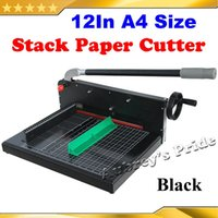 Wholesale Brand New Black Heavy Duty KG All Metal Steel Ream Guillotine Inch mm A4 SIze Stack Paper Cutter