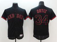 Men baseball uniform logos - Red Sox Ortiz Black shadow Baseball Jerseys Brand Jerseys Well Stitched Logos Baseball Shirts High Quality Basball Uniform