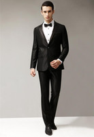 best formal trousers - The latest version Black fashion groom suit best man suit PROM dress suit jacket and trousers formal occasions