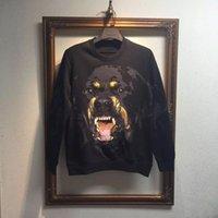 achat en gros de coton ouaté giv-Vente en gros de la plus haute d'automne de la mode nouveau style de qualité et molletonnées d'hiver hommes 3d sweatshirt des hommes de chien d'impression GIV hoodies sweatshirts thrasher