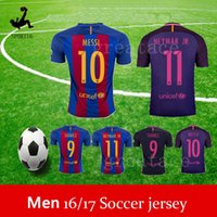 away bar - Top Quality Neymar Jerseys Messi home BAR football shirts Men s soccer jerseys away purple thai quality Customized any name