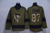 Wholesale 2016 Salute To Service Army Green Sidney Crosby Jersey Pittsburgh Penguins Ice Hockey Jerseys Fashion Pure Cotton Stitched And Sewing