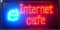 Wholesale 2016 hot sale x19 Inch Semi outdoor INTERNET CAFE store Ultra Bright flashing led electric signs