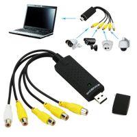 al por mayor capturar las cámaras de seguridad-Cámara de seguridad audio video libre del CCTV de la tarjeta del adaptador de la captura del USB 2.0 DVR del canal del envío 4 nueva
