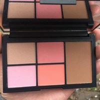 Wholesale hot sake color Blush highlighter virtual domination cheek palette palette joues Face Shadow Bronzer Blender