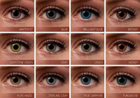 Wholesale 3 tone colored contacts fresh color blends lenses with packing boxes colors ready stock