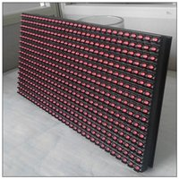 Wholesale 10pcs P10 Display module single red semioutdoor mm led dot maxtril P10 led running text led sign