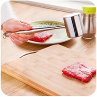 bbq sides - Fashion HandHeld Double Side Meat Tenderizer Hammer Steak Beater Mallet BBQ Kitchen Tool New hot selling