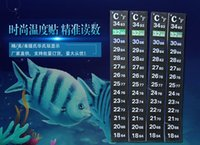 Wholesale 1000pcs Liquid Crystal aquarium thermometer with aquarium thermometer strip and digital aquarium thermometer