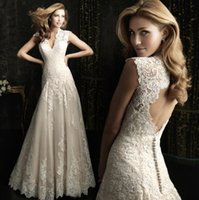 Wholesale 2016 new wedding dress summer sexy deep V neck trailing wedding European and American fashion Slim lace skirt