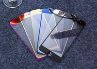 al por mayor pantallas de color iphone-Color de vidrio templado Protector de pantalla de la película Color Plating Espejo Membrana Prueba de explosión 9H Para iphone7 iPhone 6s 6plus 5s Delantero y trasero