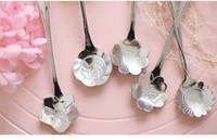 Wholesale Hot Flower Shaped Spoon Creative Stainless Steel Coffee Spoon Teaspoons Jelly Spoon Sugar Spoon New Design Sakura