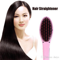 Wholesale Professional Hair Straightener Brush Beautiful Star Flat Irons for Hair Combs with LCD display HQT Temperature Control Electronics