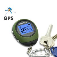 Wholesale Mini GPS Tracker Tracking Device Travel Protable Keychain Locator Pathfinding Outdoor Sport Handheld Keychain