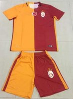 athletic homes - Benwon Galatasaray home soccer kits men s short sleeve thai quality soccer jerseys adult s athletic football sets football uniforms