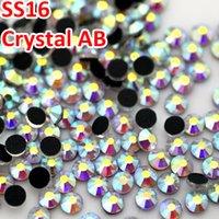 Wholesale SS16 MM Good quality Crystal AB DMC Flatback Strass Crystal Hotfix Rhinestones for DIY Garments Dress