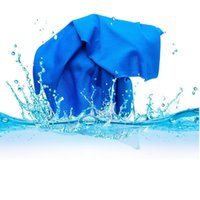bamboo fabric retail - 2016 Cold Towel cm cooling Towel Exercise Sweat Summer Sports Ice Cool Towel PVA Hypothermia Cooling Towel color Single layer retail